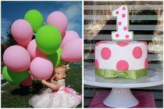 Polka Dot Sweet Shoppe 1st Birthday Party | Pizzazzerie