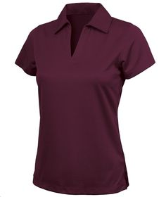 Charles River Apparel Style 2213 Women's Smooth Knit Solid Wicking Polo - SweatshirtStation.com #maroonpolo #golfshirt #ladiespolo