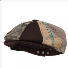 8 Panel Wool Polyester Snap Back Newsboy Hat Made of 40% wool and 60% 888a79e147f3
