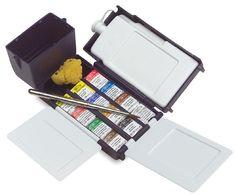 Windsor & Newton Artist's Watercolor Field Box Set-- paint on the go! $90.24