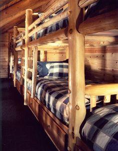 Log Bunk Room rustic-kids