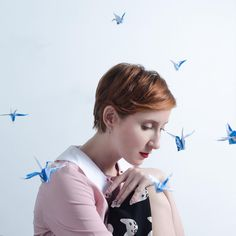 """Sweet @slanelle MUA : @sass0u photographer : William Bibet @williamouchoir Origami::"