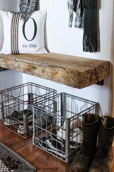 Soluções Simples Para Organizar E Decorar A Entrada Social Rustic Storage Benchshoe