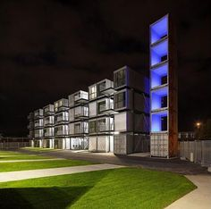 student housing in shipping containers