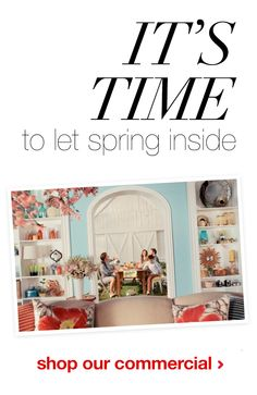 It's time to let spring inspiration inside with Target's new Threshold line for home. Check out the latest shoppable commercial here