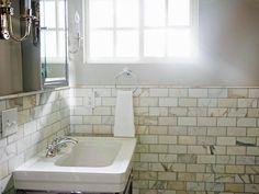 15 Timeless Bathroom Tile Designs | HGTV Timeless Bathroom, Classic Bathroom, White Bathroom, Neutral Bathroom, Bathroom Tile Designs, Bathroom Ideas, Bathroom Updates, Bathroom Tiling, Marble Bathrooms