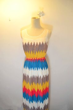 dress - http://zzkko.com/n236596-013-new-ladies-section-waist-Slim-colorfl-striped-vest-dress-pleated-chiffon-pleated.html $51.77