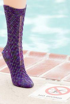 Outside In Socks, free pattern from Knitty
