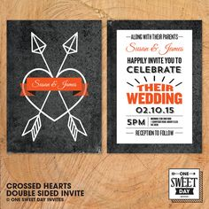 Wedding Invitations Save the date RSVP by OneSweetDayInvites