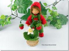 Tanjas Blumenkinder - Walderdbeere Junge für den Jahreszeitentisch