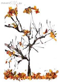 Blow painting and crushed leaves make a striking fall tree. great art project for autumn. {kokokoKIDS: Blow painting and crushed leaves make a striking fall tree. great art project for autumn. Autumn Art, Autumn Trees, Autumn Leaves, Autumn Activities, Art Activities, Blow Paint, Fall Arts And Crafts, Fall Art Projects, Ecole Art