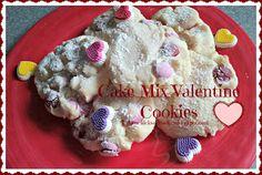 twochicksandamom.blogspot.com: Valentine's Day Cake Mix Cookies