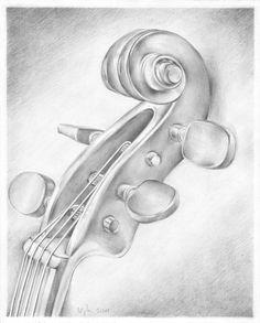 Violin by vigh-attila music drawings, art drawings sketches, cool drawings Violin Drawing, Violin Painting, Violin Art, Painting & Drawing, Pink Violin, Violin Sheet, Music Drawings, Pencil Art Drawings, Art Drawings Sketches