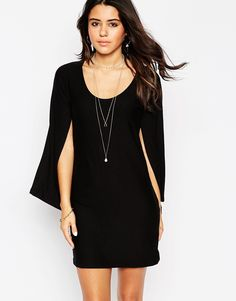 ASOS T-Shirt Dress with Cape Sleeves