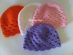 hat crochet baby cotton cappellino neonato a di CREAZIONIFIOPI