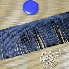 5Yds 10 см длинные черный искусственного хоккей кожа кисточка бахрома кружевной отделкой африки кружева пришить сумки платье одежды декоративные аксессуары купить на AliExpress