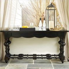 Hooker Furniture Black Shaped Apron Console Table - 5162-85001