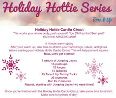 Your Holiday Hottie Cardio Circut ~ This Full Body Workout will get your heart rate up and work every muscle in your body!