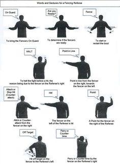 Fencing referee signals