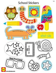 printable school stickers