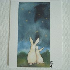 star gazing by #bluenosedog at #etsy