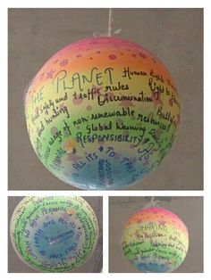 Central idea display for PYP exhibition under the TDT - Sharing the planet!!