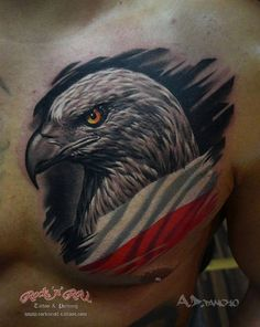 Tribal Sleeve Tattoos, Skull Tattoos, Animal Tattoos, Polish Eagle Tattoo, Polish Tattoos, Cool Chest Tattoos, Badass Tattoos, Hip Tattoos, Freedom Tattoos