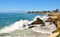 Color Photo of the Ocean Waves at Natural Bridges Beach in Santa Cruz, CA - Photography Fine Art -- Waterscape -- 8 x 10 Print