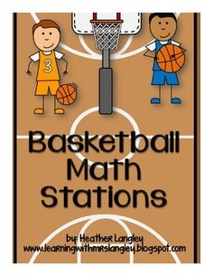 Basketball Math Stations aligned to CC standards for 1st grade.  Hands on, engaging, and FUN!