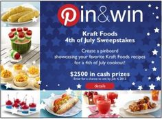 Kraft Foods hosts a 4th of July recipe contest to get fans ready to celebrate.