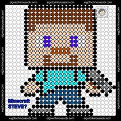 Steve Minecraft Perler Bead Pattern