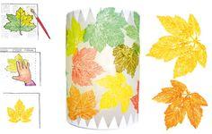 Blätterdruck Pergament-Laterne