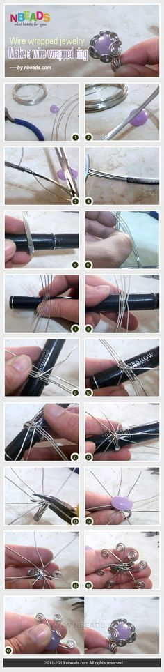 alambre de la joyería envuelta hacer un anillo de alambre envuelto, podría utilizar esta técnica para envolver un colgante cabujón ?