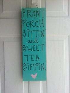 SOUTHERN sign PORCH sign CUSTOM wooden sign by ThePeculiarPelican