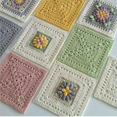 Transcendent Crochet a Solid Granny Square Ideas. Inconceivable Crochet a Solid Granny Square Ideas. Crochet Motifs, Granny Square Crochet Pattern, Crochet Chart, Crochet Squares, Crochet Blanket Patterns, Crochet Stitches, Knitting Patterns, Granny Squares, Crochet Bedspread