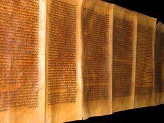 MAGNIFICENT HEBREW TORAH SCROLL MANUSCRIPT BIBLE 300YRS FOUND IN SPAIN SYNAGOGUE