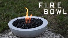 How To Make a Concrete Fire Bowl - Some additional tips and alternative methods. | Gel Fuel