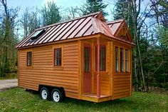 "Tumbleweed Tiny House Company  - I like the one with the full ""attic""  We have too much snow for this roof!"