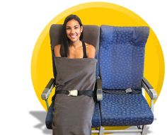 The Germ Free Bee Airplane Seat Cover & Blanket