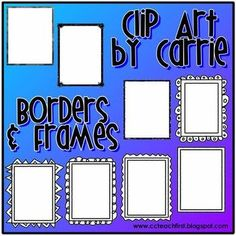 Weekly Freebie: FREE Clip Art Resource from C & C Teach First on TpT    Borders & Frames BW FREEBIE