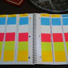 DIY plan book. We shall see how long I keep this up! It's even color coded by class!