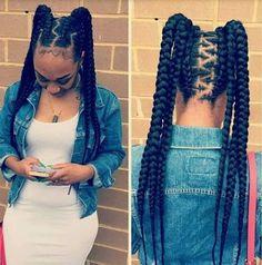 85 Box Braids Hairstyles for Black Women - Hairstyles Trends Box Braids Hairstyles, Girl Hairstyles, Hairstyle Braid, Teenage Hairstyles, Pretty Hairstyles, Black Girl Braids, Braids For Black Hair, Braids For Kids, Girls Braids