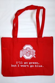 OSU Ohio State University Buckeyes Recycled Reusable Grocery Tote