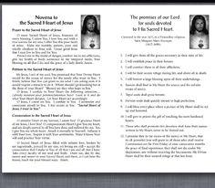 Sacred Heart of Jesus Novena Pray every day Jesus is listening