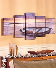 add a beautiful feature piece to any room with this 5pc canvas wall