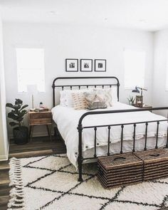 Rugs USA - Area Rugs in many styles including Contemporary, Braided, Outdoor and Flokati Shag rugs.Buy Rugs At America's Home Decorating SuperstoreArea Rugs #bedroominspo Farmhouse Bedroom Decor, Home Bedroom, Modern Bedroom, Budget Bedroom, Minimalist Bedroom, Gray Bedroom, Bedroom Rugs, Ikea Bedroom, Bedroom 2018