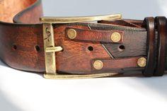 Premium Leather Brown Leather Belt Men's Design Quality