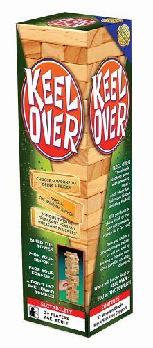 This version of the classic block-stacking tower game has an adult edge... each and every block comes printed with a hilarious drinking forfeit! There are tongue-twisters, songs to gargle and drinking forfeits to 'steady' your nerves! Suitable for adults 2+ players Contents: 57 wooden blocks, block stacking support