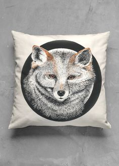 EL ZORRO PILLOW ACCENT PILLOW - MATTE SQUARE  ORIGINAL DESIGN BY GRAY.ANN003 FROM HAMILTON, NEW ZEALAND  Accent your home with our specially designed square Matte Accent Pillows. #homedecor, #pillows, #interiors, #interiordesign, #animaldesign, #nature, #cushions, #comfort, #shopvida, #affiliate