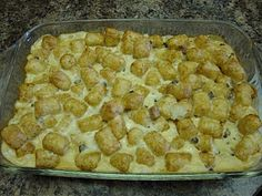 The Duggar's Tator Tot Casserole - 5 Ingredients! This is a family favorite!